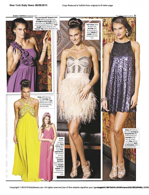 "The Beautiful Colleen Cuthbertson @ Streamline Model Management in "" Elegance without expense "" for the New York Daily News August 9th 2013"