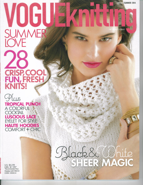 Streamline Superstar Colleen Cuthbertson Lands The cover Of Vogue Knitting Spring/Summer Issue 2014
