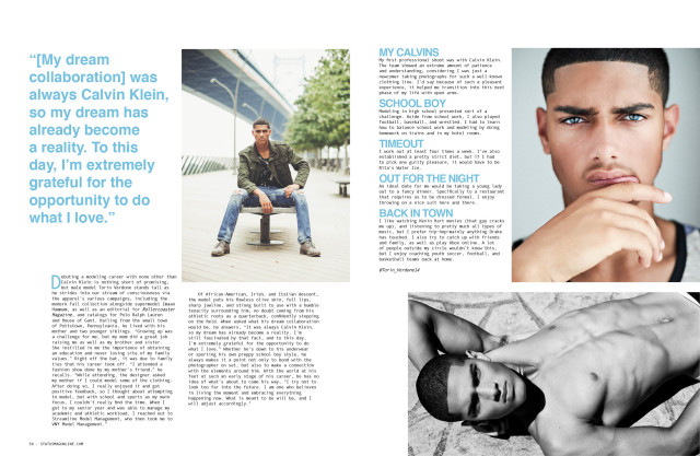 Torin Verdone for Status Magazine  Quarterback Kick-off