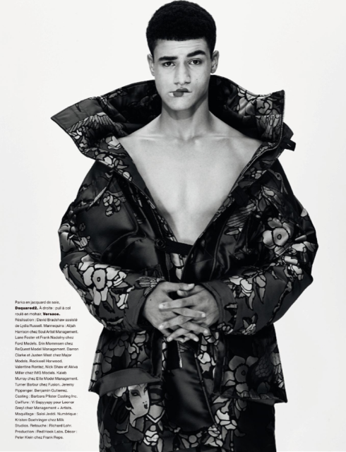Justen West for Numero Magazine by Nathaniel Goldberg with Styling by David Bradshaw